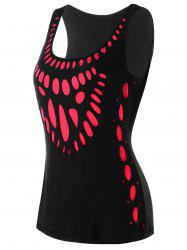 U Neck Cut Out Tank Top -
