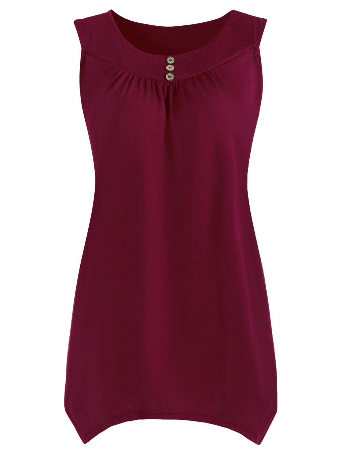 Outfits Plus Size Causal Asymmetric Sleeveless Top