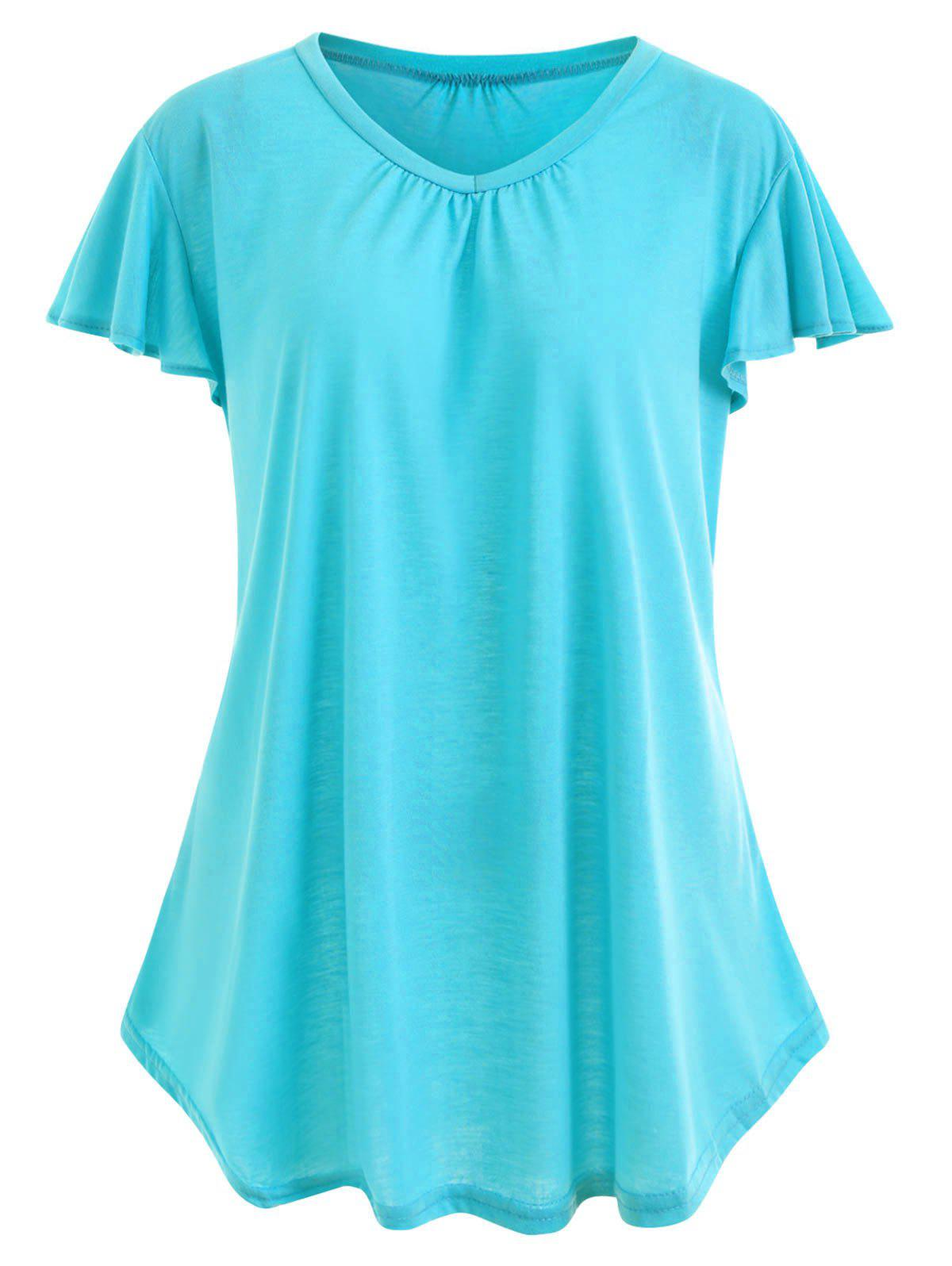New Plus Size Simple T-shirt