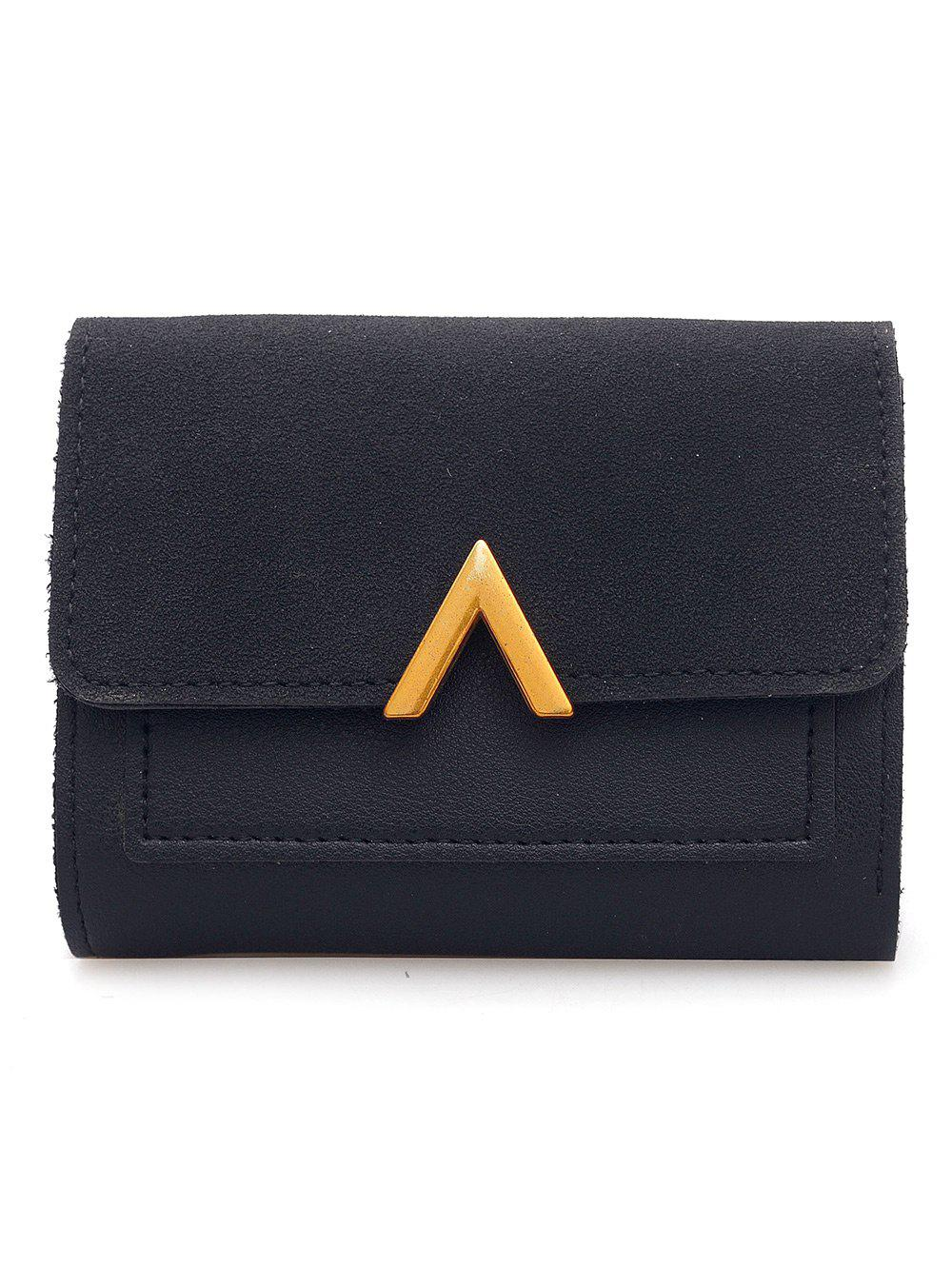 Store Faux Leather Fold Short Wallet