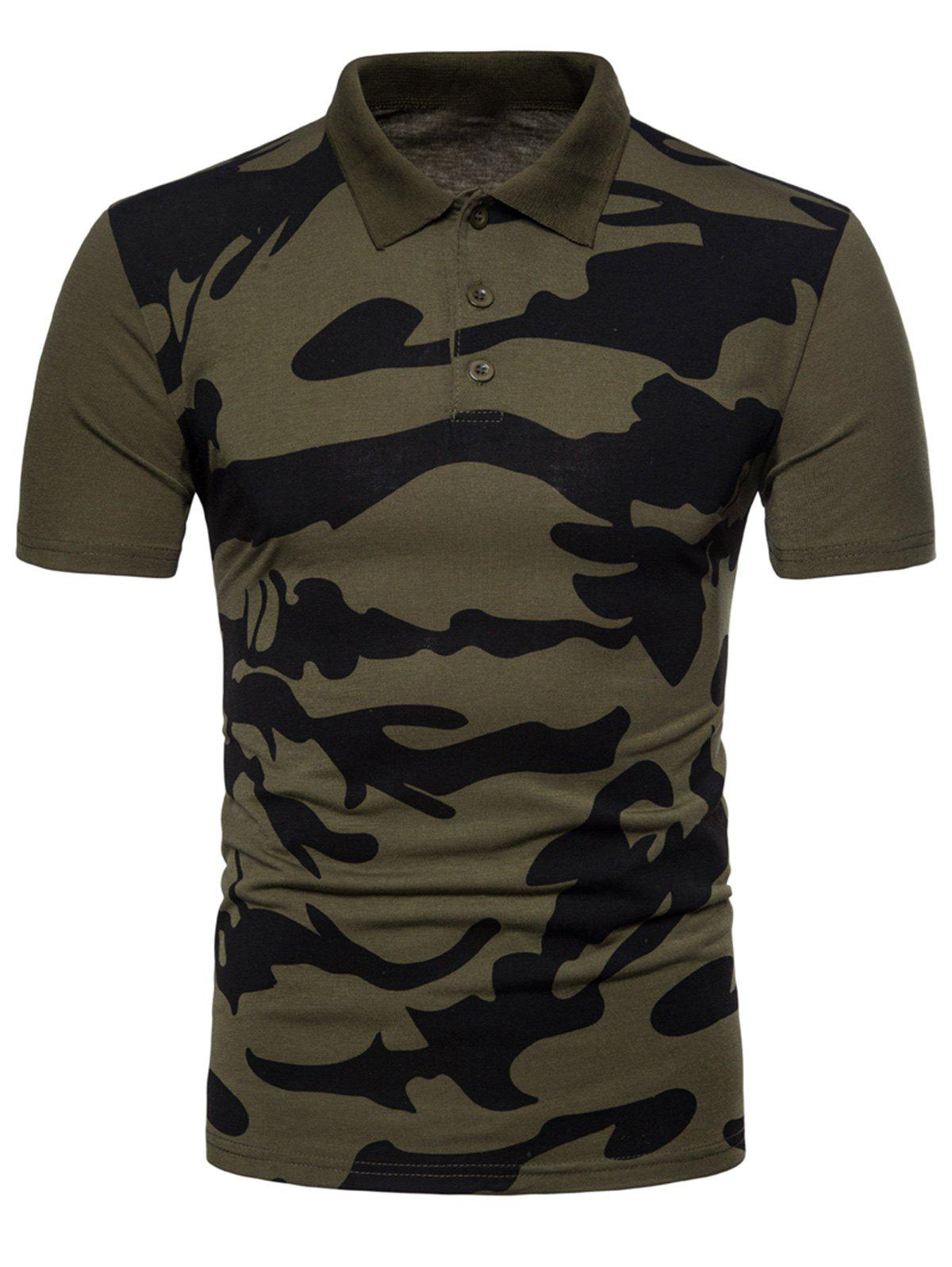 2019 Camo Print Fitted T Shirt Rosegal