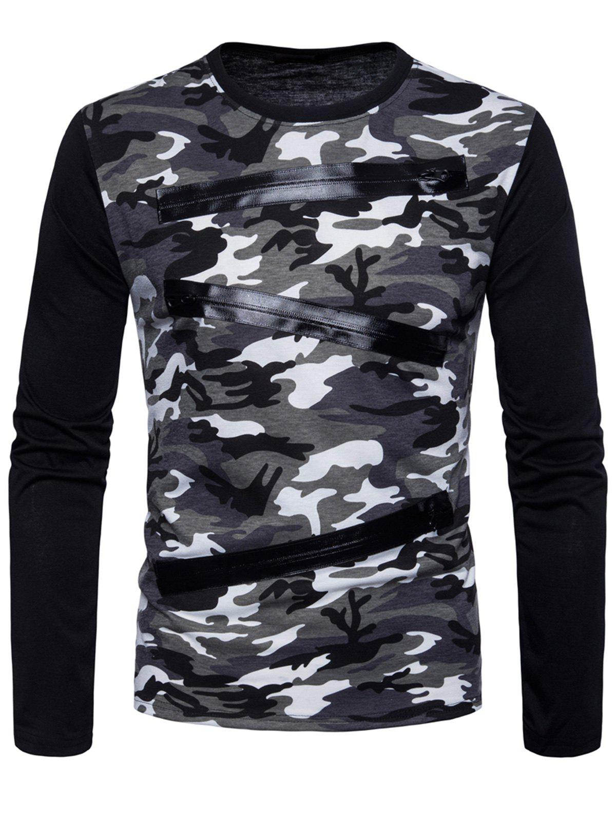 Store Long Sleeve Camo Pattern T-shirt