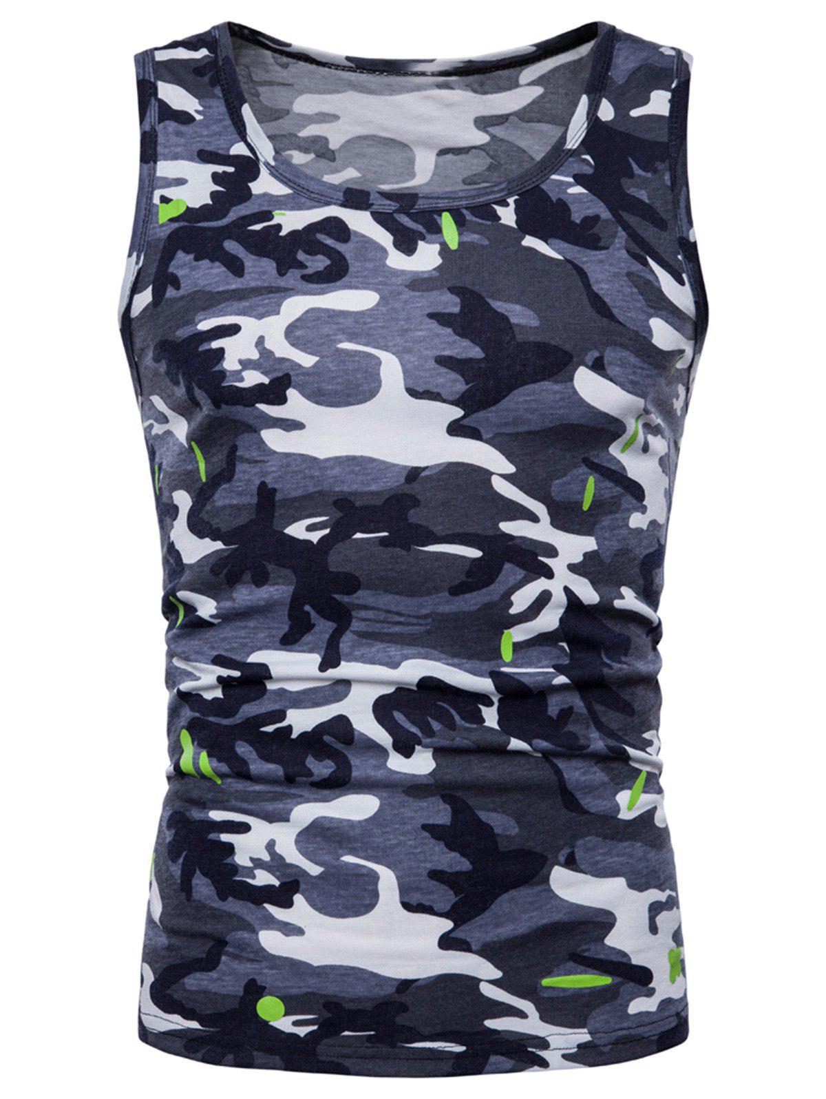Store Relaxed Fit Camo Print Tank Top