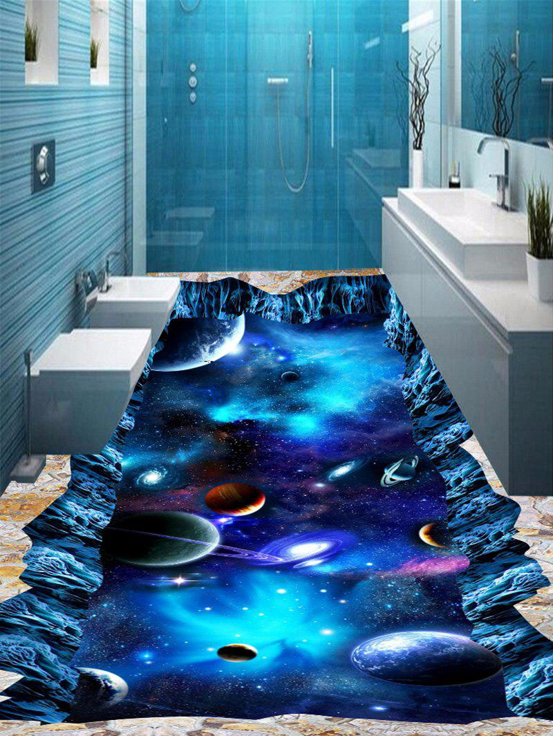 Blue 5pcs:16*39 Inch 3d Starry Sky Cosmos Print Floor Stickers ...