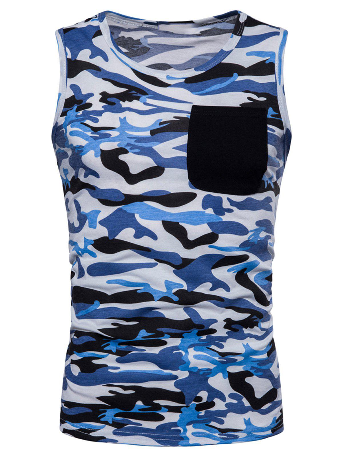 Hot Pocket Camo Print Tank Top