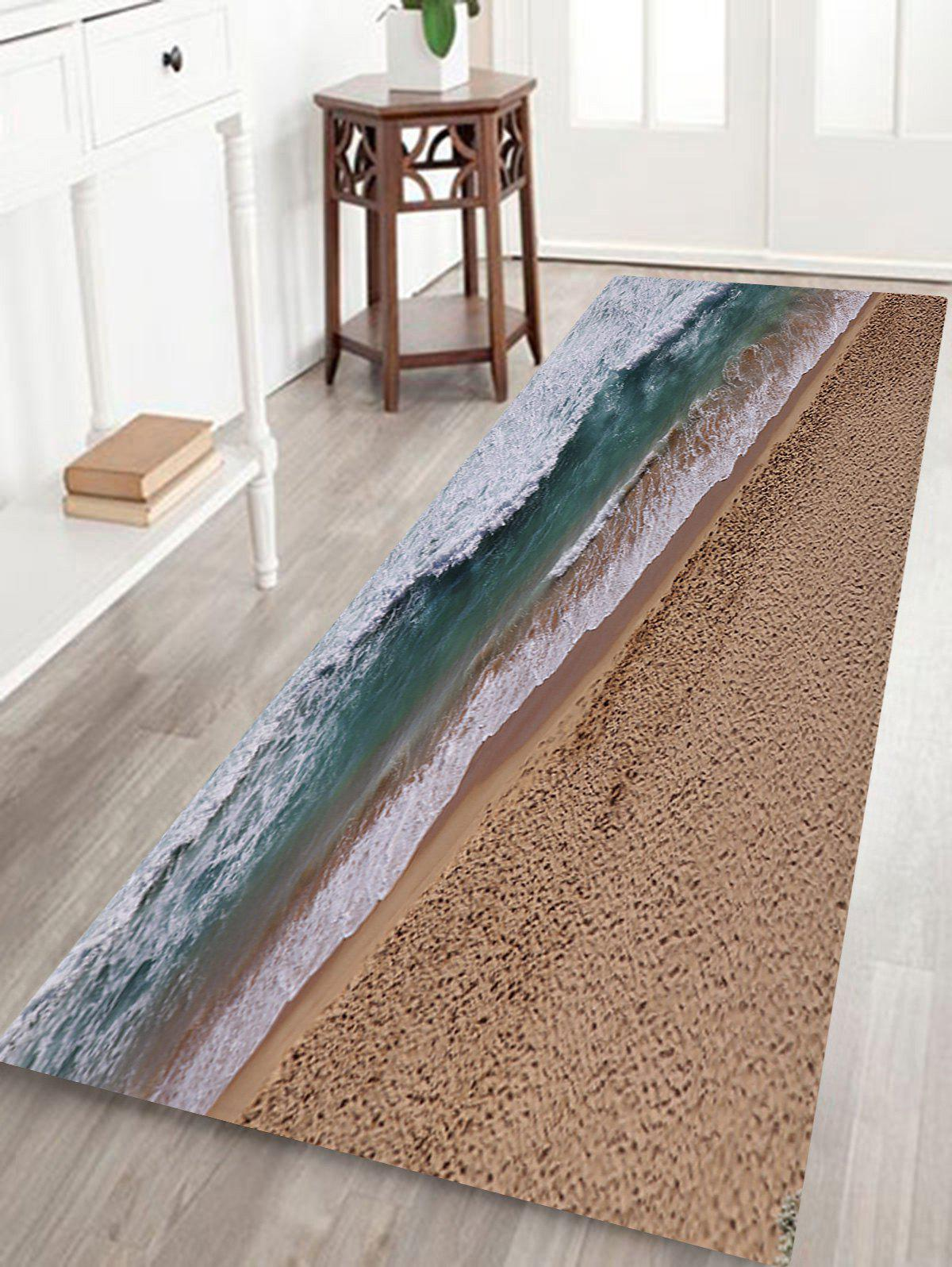 Affordable Seaside Scenery Print Anti-skid Water Absorption Area Rug