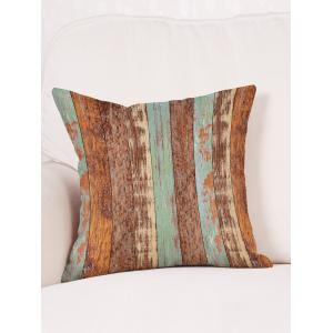 Retro Wood Grain Print Decorative Linen Sofa Pillowcase -