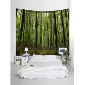 Forest Trees Print Tapestry Wall Hanging Decor -