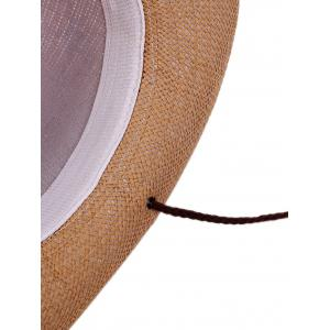 Coconut Tree Printed Cowboy Straw Hat -