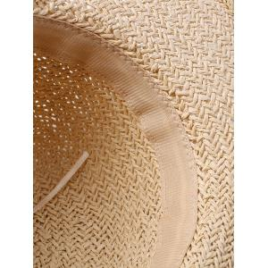Lace Embellished Bowknot Straw Hat -