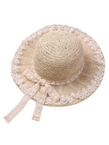 Outfits Lace Embellished Bowknot Straw Hat