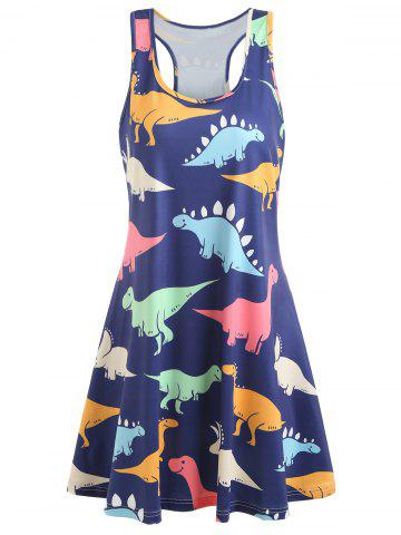 Cheap Dinosaur Racerback Tank Dress