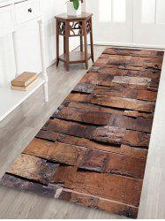 Vintage Wood Grain Print Area Rug -