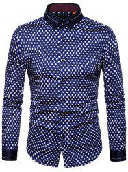 Printed Long Sleeve Button Down Shirt -