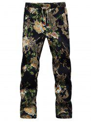 Lace Up 3D Coton Neuvième Pantalon -
