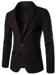 Color Block Panel Collar Blazer -