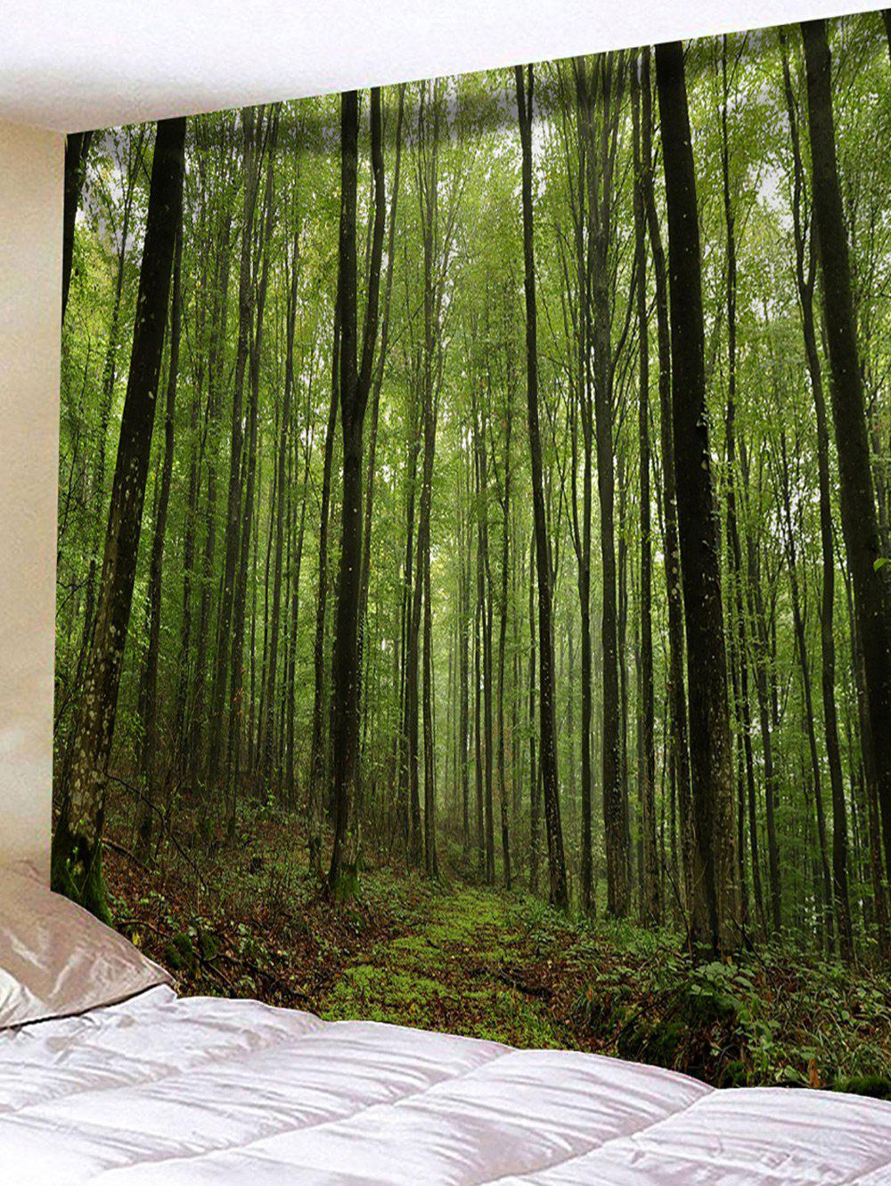 Unique Forest Trees Print Tapestry Wall Hanging Decor