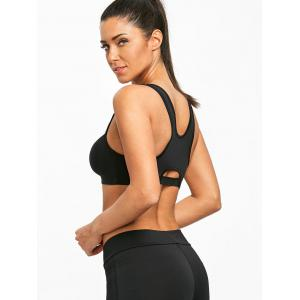 Racerback Zip Front Two Tone Sports Bra -