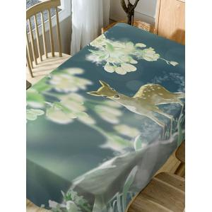 Deer Print Fabric Waterproof Dining Table Cloth -