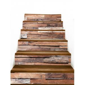 Wood Floor Board Pattern Stair Decals -
