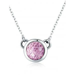 Artificial Crystal Sterling Silver Collarbone Necklace -