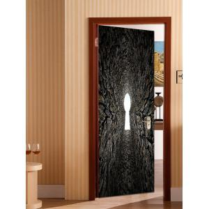 Tunnel Entrance Print Door Stickers -
