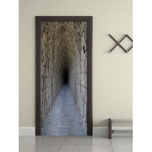 Secret Tunnel Print Door Decals -
