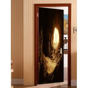 Cave Entrance Printed Door Decals -
