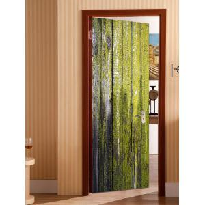 Paint Peeling Wood Board Printed Door Stickers -