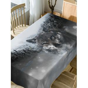 Wolf Print Fabric Waterproof Dining Table Cloth -