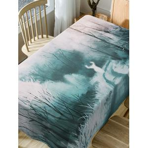 Forest Deer Print Fabric Waterproof Dining Table Cloth -