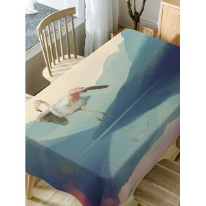 Flamingo Print Fabric Waterproof Dining Table Cloth -