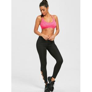 Strappy Padded Sports Bra Sweat Top -