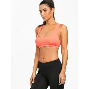Padded Strappy Crisscross Performance Sports Bra -