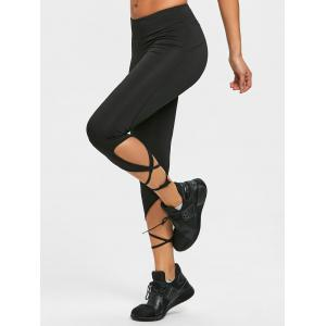 Wrap Tie Cropped Active Leggings -
