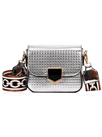 Outfit Printed Strap Embossed Crossbody Bag