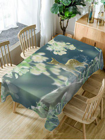 Unique Deer Print Fabric Waterproof Dining Table Cloth