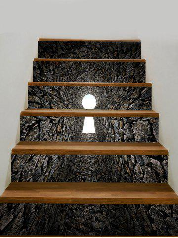 Online Tunnel Pattern PVC Removable Stair Stickers