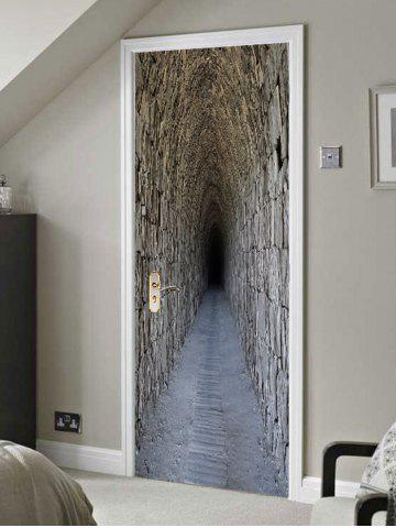 Online Secret Tunnel Print Door Decals