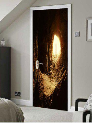 Fancy Cave Entrance Printed Door Decals