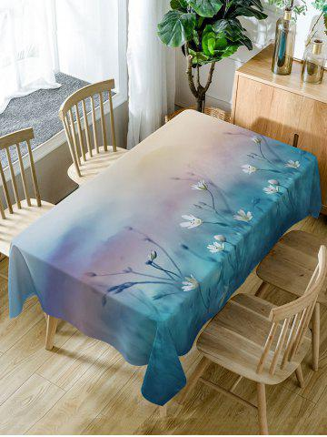 Online Floral Print Fabric Waterproof Dining Table Cloth