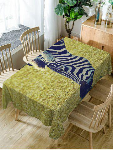 Fancy Zebra Print Fabric Waterproof Dining Table Cloth