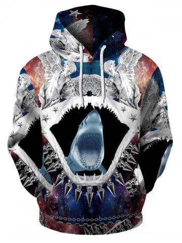 Cheap 3D Printed Trippy Pullover Hoodie