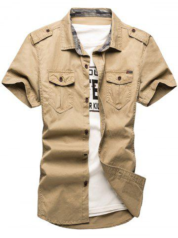 Trendy Pocket Design Cargo Shirt