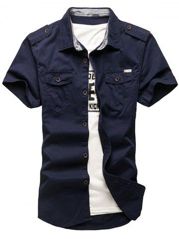 Online Pocket Design Cargo Shirt