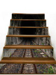 Removable Tunnel Railway Decorative Stair Stickers -