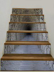 3D Tunnel Cave Printed Stair Decals -