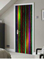 Colorful Wooden Board Print Door Stickers -