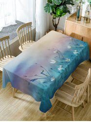 Floral Print Fabric Waterproof Dining Table Cloth -