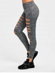 Marled Ladder Shredding Gym Leggings -